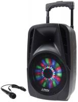Mobile Soundsystem ''Port-08 LED'' 300W mit Mikro, USB, Bluetooth & Radio