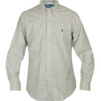 RL SHIRT CREAM/BLUE CHECKERED
